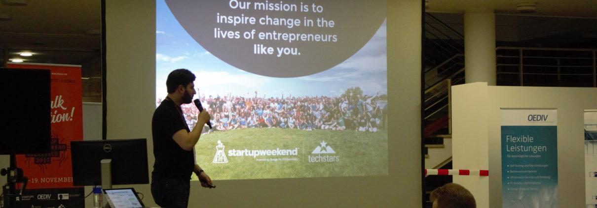 Startschuss beim Startup Weekend Bielefeld 2017.
