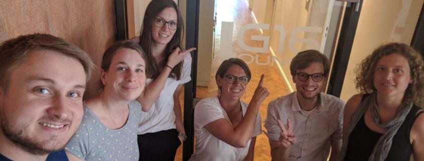 Team Startups Bielefeld beim Workshop Mai 2018